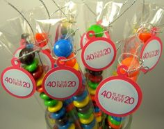 40th birthday party ideas | 40th Birthday Party Favors 40 is the New by CarasScrapNStampArt, $9.00