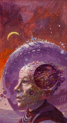 11200:  PAUL LEHR (American, 1930-1998) The Wonderful World of Robert Sheckley, paperback cover, 1979