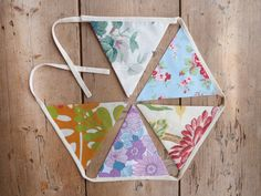 Funky Floral Bunting / Banner / Pennant / by annasbluebellblue Bunting Banner, Banners, Etsy Handmade, Handmade Gifts, Party Garland, Hanging Photos, Photo Props, Small Businesses, Panda