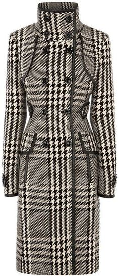 KAREN MILLEN ENGLAND Statement Check Coat