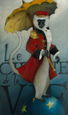 There is always a ringmaster in bully gangs. The Ringmaster Painting by Katherine DuBose Fuerst - The Ringmaster Fine Art Prints and Posters for Sale Art Du Cirque, Illustration Arte, Color Fantasia, Pierrot Clown, Monkey Art, Vintage Circus, Arte Pop, Canvas Prints, Art Prints