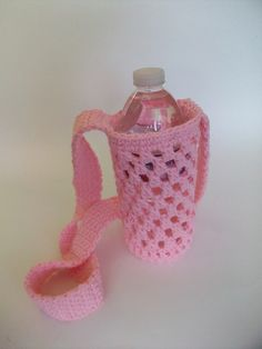 Ravelry: luvmygirlies' Water Bottle Holder 1.  Free crochet pattern on Ravelry.