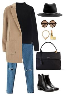 Sans titre #661 by romane-inspiration on Polyvore featuring polyvore, fashion, style, Dorothy Perkins, Yves Saint Laurent, rag & bone, Illesteva, AERIN and clothing