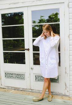 NEW Maxi Cotton Minimal Shirt Dress Fall Fashion Long by noemiah
