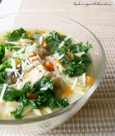 Baking with Blondie : Chicken and Orzo Soup with Kale