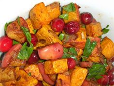 Sweet Potato-Cranberry Hash