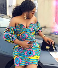 Ankara Styles Short Gowns for Ladies: 2019 -  DeZango  FacebookTwitterWhatsAppAddThis Ankara Short Gown Styles, Short African Dresses, Short Gowns, Latest African Fashion Dresses, African Print Dresses, African Print Fashion, Africa Fashion, African Clothes, Ankara Fashion