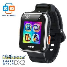 V-Tech Kidizoom Smart Watch for Kids Black Learn To Tell Time, V Tech, 6 Year Old Boy, Take Video, Thing 1, Best Birthday Gifts, Birthday Ideas, Old Boys, Toys For Boys