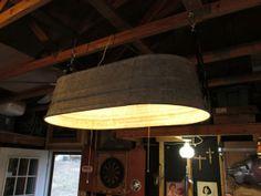 Galvanized tub - lighting