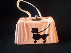 1950's Child's Purse Dolls Handbag, £12 free P&P by E And V Vintage - Adorable little childs purse styled as a handbag. Pink with classic black Poodle. Displays beautifully with vintage dolls, or maybe to keep your sixpence's in?  Postage is included in the price