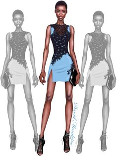 Maria Borges in Official Versace. ‪#‎Digitaldrawing‬ by David Mandeiro Illustrations ‪#‎MariaBorges‬ ‪#‎Versace‬ ‪#‎DavidMandeiroIllustrations‬
