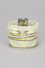 Hipanema - Multi bracelet jaune perles Limon