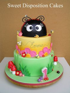 lady bug cake for birthday girl | Thank you Lisa for letting me share your beautiful cake with everyone!