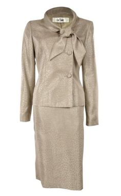 Le Suit Wild Spirit Women's Business Suit Champagne (8) * Be sure to check out this awesome product.