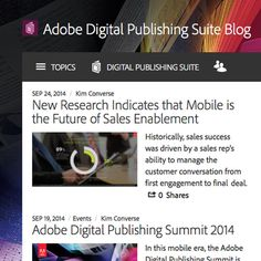 The official blog of the Adobe Digital Publishing Suite
