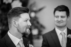Capturing real emotion is an essential for wedding photographers.  This one at St Elizabeth's House Plymouth as his bride made her entrance.