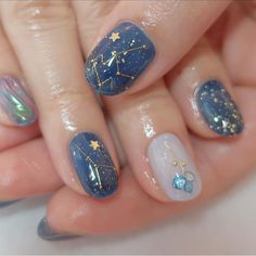 On average, the finger nails grow from 3 to millimeters per month. If it is difficult to change their growth rate, however, it is possible to cheat on their appearance and length through false nails. Cute Acrylic Nails, Cute Nail Art, Cute Nails, Pretty Nails, Glitter Nails, Acrylic Art, Beautiful Nail Art, Hair And Nails, My Nails