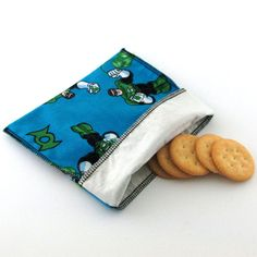 Reusable Snack Bag, Snack Pouch, Lunch Bag, Sandwich Bag, Diaper Bag, Food Storage, Eco friendly, Back to School, Gift for Kids, Kids Bag on Etsy, $5.00