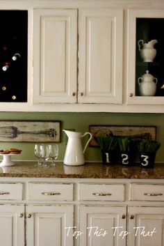 Butlers Pantry Project from Top This Top That - like the darker green than what we have now...perhaps try a color like this