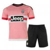Juventus Away 2015-16 Season Pink Soccer Jersey Kit(Shirt+Short)