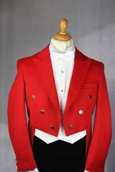 Tailcoat Groom ( Red Jacket+Pants+Tie+Vest) custom made Men Wedding Suits Tuxedo #Unbranded #ThreeButton