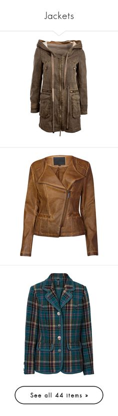 """Jackets"" by shlimazla ❤ liked on Polyvore featuring outerwear, jackets, coats, coats & jackets, womens jackets, parka jacket, acid wash jackets, brown parka, brown jacket and brown parka jacket"
