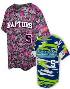 8a5d8e1db59 Design your team s camo baseball jersey online at Team Sports Planet. Any  color combo!