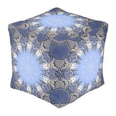 Stone METAL Element Kaleido Cube Pouf from TheElementalHome* on Zazzle