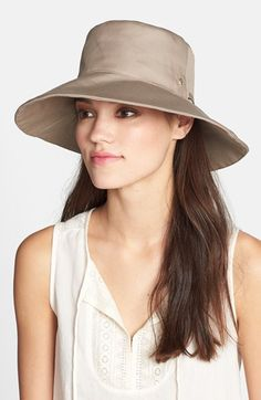 Free shipping and returns on Helen Kaminski 'Kauksi' Packable Sun Hat at Nordstrom.com. Practical and pretty, a lightweight cotton sun hat with 50+ UPF protection is packable so that you can toss it—or squash it—into your getaway kit and it will snap back into shape when you're ready to put it on. Adjustable ties customize the fit and a small goldtone logo charm at the crown adds understated branding.