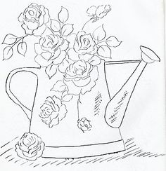 Pintura em Tecido Novos Riscos de Flores - Pintura Em Tecido - Venha Aprender Pintura em Tecido