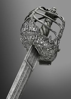 Basket-hilted broadsword of Oliver Cromwell circa 1650. Philadelphia Museum of Art