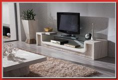 Marble LCD TV Stand Love how it's built into it's surroundings Centro Tv, Furniture For You, Home Furniture, Tv Stand Luxury, Lcd Tv Stand, Rack Tv, Wooden Tv Stands, Tv Stand Designs, Cool House Designs