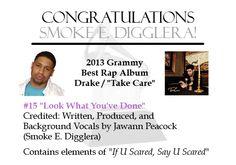 Smoke E. Drake Take Care, Best Rap Album, Rap Albums, Smoke, Spaces, Group, Writing, Sayings, Music