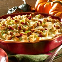 turkey casserole... 4 cups leftover prepared stuffing, divided + 4 cups coarsely chopped leftover cooked turkey (about 1 lb.) + 3/4 cup mayonnaise, divided + 1/4 cup whole berry cranberry sauce + 2 cups prepared mashed potatoes + 1-1/2 cups shredded mozzarella cheese