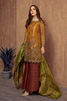 Pakistani Party Wear Dresses, Simple Pakistani Dresses, Shadi Dresses, Pakistani Wedding Outfits, Designer Party Wear Dresses, Pakistani Bridal Wear, Pakistani Dress Design, Indian Designer Outfits, Indian Dresses
