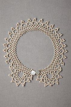 ivory Subtle Infusion Collar | BHLDN
