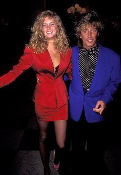 Pin for Later: Retour Sur les Tenues les Plus Folles des Grammy Awards Rachel Hunter et Rod Stewart en 1991