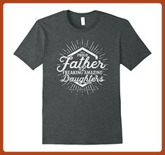 Mens I'm A Proud Father of 2 Freaking Amazing Daughters T-shirt Large Dark Heather - Relatives and family shirts (*Partner-Link)