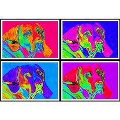 Retro Doggies Art Prints Set Of 4 Vivid Prints by South Shore Art on Opensky