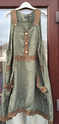 Sarah Santos Linen Pinafore dress/tunic Size large in GC in Clothes, Shoes…