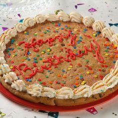 One Big Cookie (Easy; 12 servings) #cookie #birthday