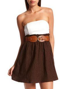 cute country dress...love the belt