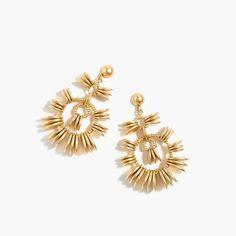 Disc statement earrings