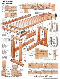 DIY Workbench - Workshop Solutions Projects, Tips and Tricks - Woodwork, Woodworking, Woodworking Tips, Woodworking Techniques Woodworking Bench Plans, Woodworking Crafts, Woodworking Shop, Grizzly Woodworking, Workbench Designs, Diy Workbench, Workbench Organization, Tool Bench, Diy Bench