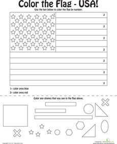 United States of America Flag Coloring Page Worksheets Flags