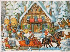 vintage Advent calendar from Germany, Korsch Verlag