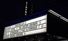 Exterior shot of the signage board at the Orpheus Cinema, Bristol.
