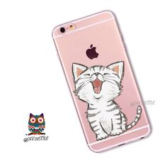 Laughing Adorable Cute Laughing Baby Kitty Cat Kitten Lovers Meow Soft Clear Phone Case Silicone iPhone 6 case iPhone 7 case