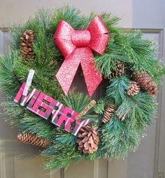 It's Always Ruetten: Rustic Glittery Wreath