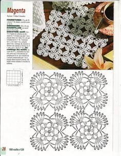 Diy Crafts - View album on Yandex. Crochet Motif Patterns, Crochet Diagram, Crochet Squares, Crochet Designs, Crochet Stitches, Crochet Dollies, Easter Crochet, Crochet Flowers, Diy Crafts Crochet